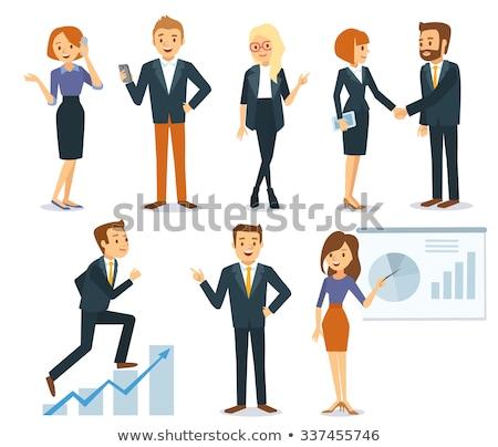 üzlet bemutató főnök titkárnő információ információ Stock fotó © robuart