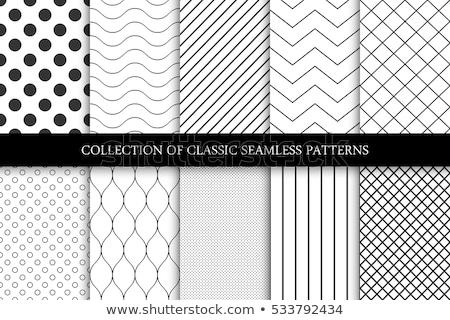 Mínimo preto e branco ziguezague padrão de onda conjunto papel Foto stock © SArts