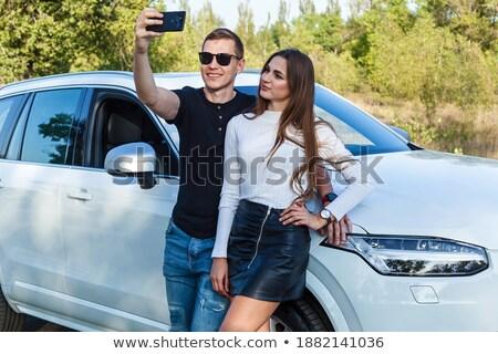 Guy embraces girl for waist Stock photo © Paha_L