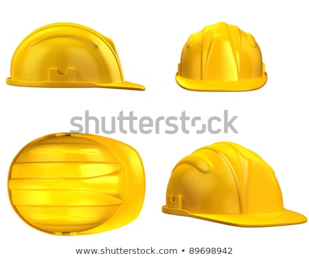 hard hat helmet, miner's helmet in yellow Stock photo © experimental