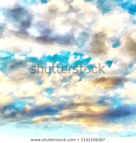 Живопись · замечательный · Blue · Sky · щетка · небе · облака - Сток-фото © pterwort
