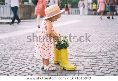 美 少女 橋 表示 小さな セクシーな女性 ストックフォト © fotorobs