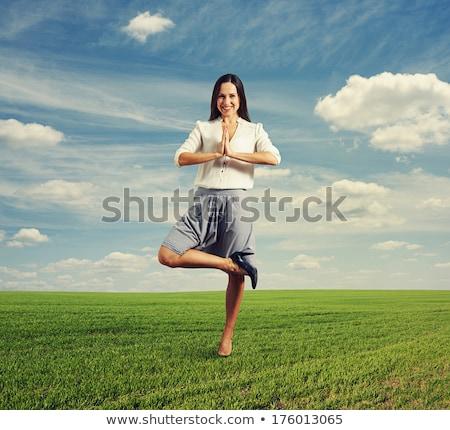 Business yoga smiley Stock photo © sahua