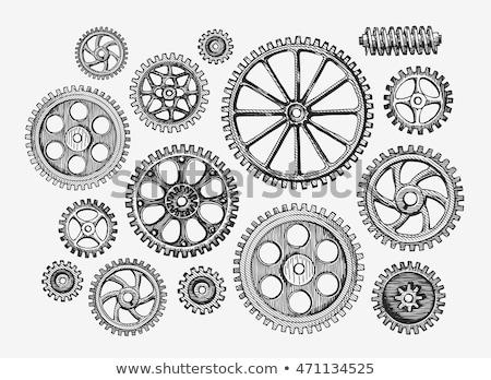 Vieux métallique Cog engins roues Photo stock © Stocksnapper