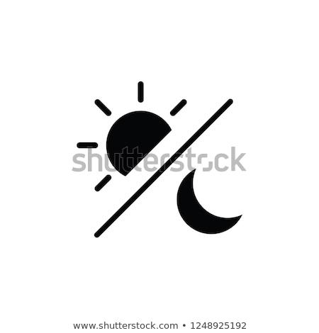 dia · noite · sol · lua · ilustração · fundo - foto stock © sniperz