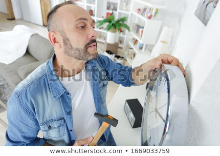 Artesano reloj nivel trabajo industria Foto stock © photography33