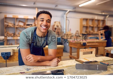 Student and woodworker Stock photo © photography33