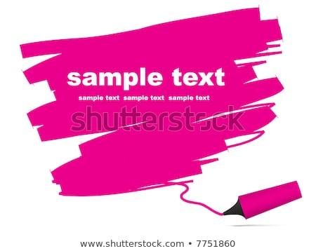 Highlighter caneta peça papel texto lata Foto stock © experimental