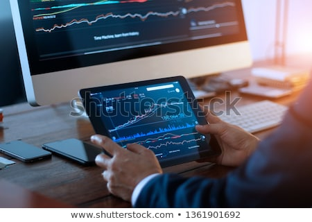 Currency exchange rates on a computer monitor. Stock photo © borysshevchuk