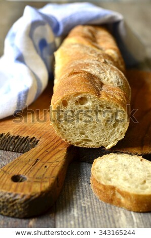 organic bread village style homemade stock photo © marimorena
