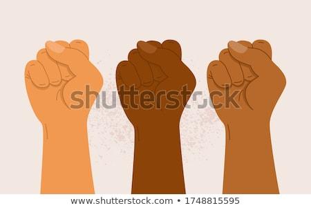 Kéz ököl sötét erő elhatározás ellenállás Stock fotó © stevanovicigor