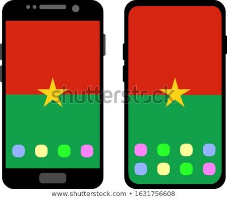 Smart phone button with Burkina Faso flag Stock photo © lirch