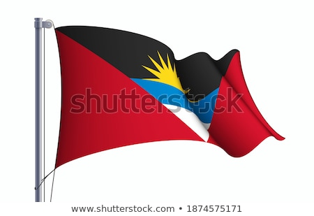 metal icon of antigua and barbuda stock photo © dvarg