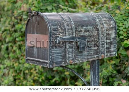 メールボックス 葉 グレー 明るい 緑の葉 自然 ストックフォト © chris2k