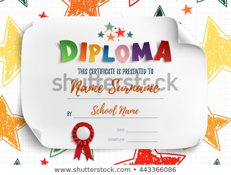 preschool diploma stock photo © mady70