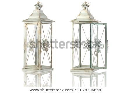 wooden rustic candle holder Stock photo © taviphoto