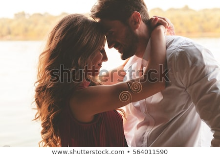 Young beautiful couple in love outdoors Stock photo © koca777