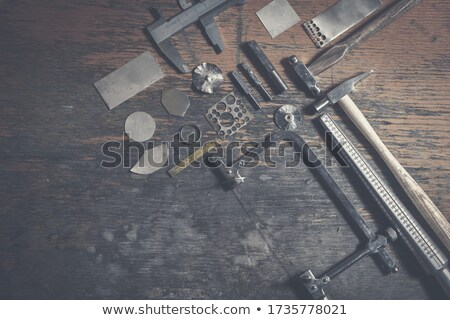vintage jeweler tools and diamonds stock photo © reddaxluma