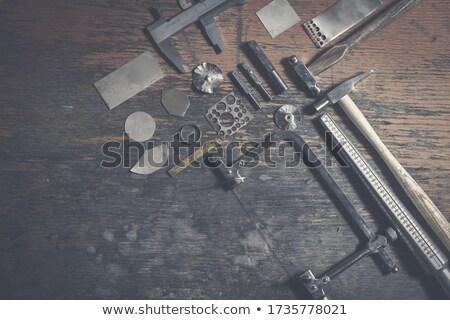 vintage jeweler tools and diamonds Stock photo © RedDaxLuma