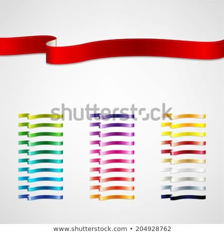 vörös · szalag · ajándék · íj · fekete · születésnap · doboz - stock fotó © nito