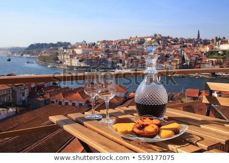 Zonnige Portugal oude binnenstad hemel Stockfoto © joyr