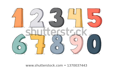three different doodle drawn numbers Stock photo © Anna_leni