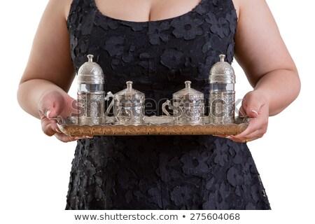 Como copo tradicional turco café mulher Foto stock © ozgur