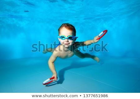 sevimli · çocuklar · poz · sualtı · havuz · boş - stok fotoğraf © wavebreak_media