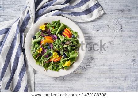 fresh blueberries with green leaves stock photo © -baks-