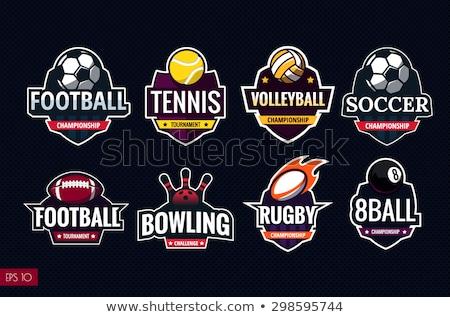 Set of Logo for sport athletic club Stock photo © netkov1