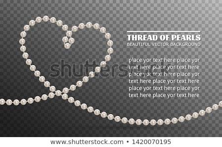 Beads from pearls Stock photo © ozaiachin