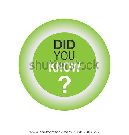 Perguntar verde vetor ícone projeto ajudar Foto stock © rizwanali3d
