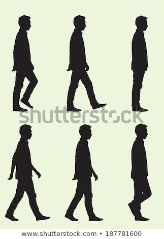 Stockfoto: Jongens · lopen · sjabloon · witte · gezicht · ontwerp