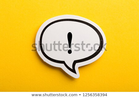 Exclamation point blackboard Stock photo © goir