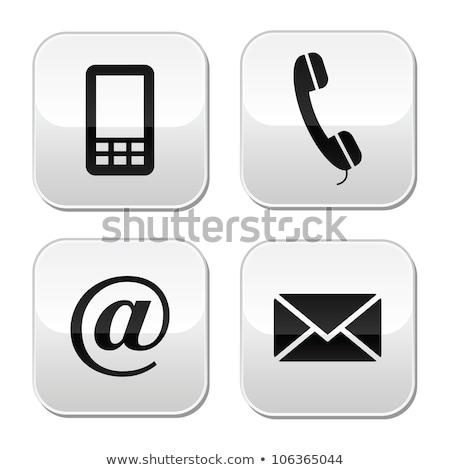 White contact button Stock photo © Oakozhan