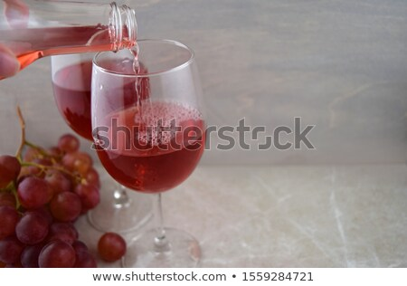 Wineglass with cold red wine Stock photo © Alex9500