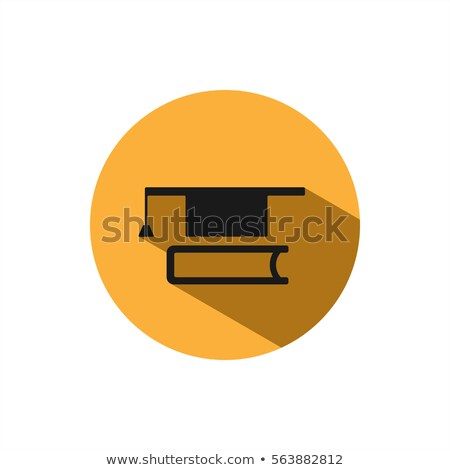 Mortarboard with book icon on a circle with shade Stock photo © Imaagio