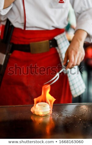 Teppanyaki- Meat and Fish Barbeque Grill Stock photo © monkey_business