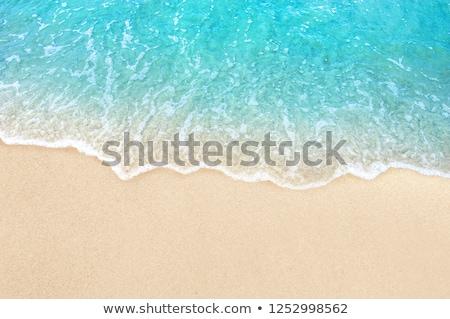 Meer Sandstrand Landschaft blau Strand Himmel Stock foto © OleksandrO