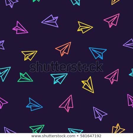 Seamless pattern with flat styled planes Stock photo © SwillSkill