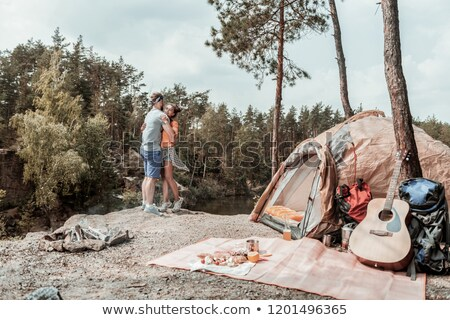 Couple dancing, backpacking tents Stock photo © IS2