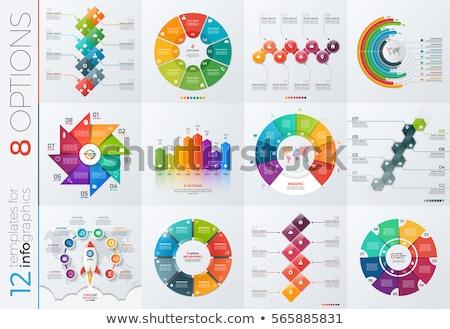 Inicio infografía plantilla papel corte espacio Foto stock © orson
