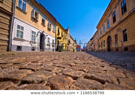 old paved street in tvrdja historic town of osijek stock photo © xbrchx