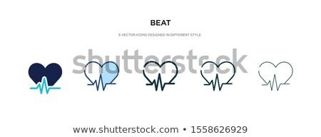 Diferente corazón ilustración médicos pulsante rápido Foto stock © alexaldo