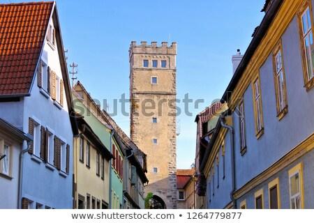 the town Aub in Germany Stock photo © LianeM