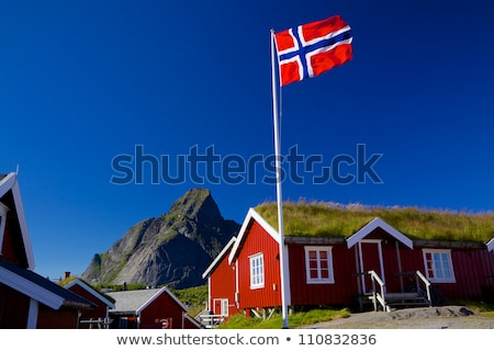House with flag of norway Stock photo © MikhailMishchenko