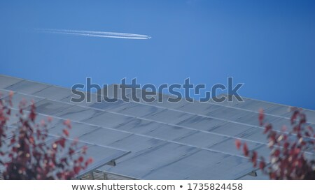 an airplane flying over nature stock photo © colematt