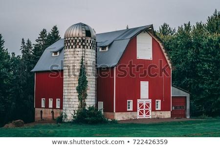 beyaz · kırmızı · ahır · örnek · Bina · ev - stok fotoğraf © colematt