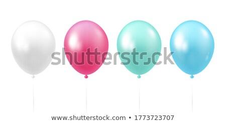 Stok fotoğraf: Renkli · balonlar · ayarlamak · yalıtılmış · beyaz · eps