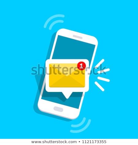 Notifica smartphone contemporanea senior imprenditrice piedi Foto d'archivio © pressmaster